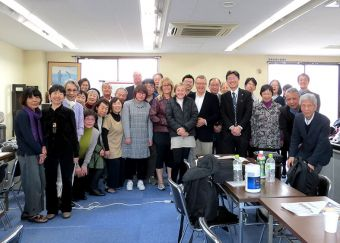 Participants and trainer involved in the seminar of Biblical reconciliation in Japan.