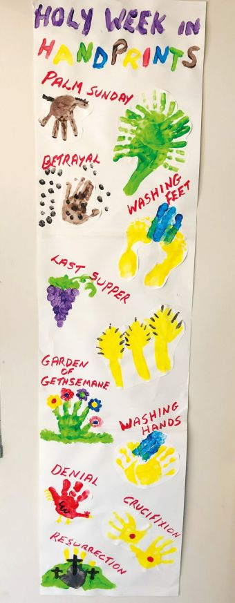 Holy Week in hand prints