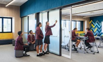 St Peter's Lutheran College Springfield new Junior High precinct complete thanks to LLL loan 2